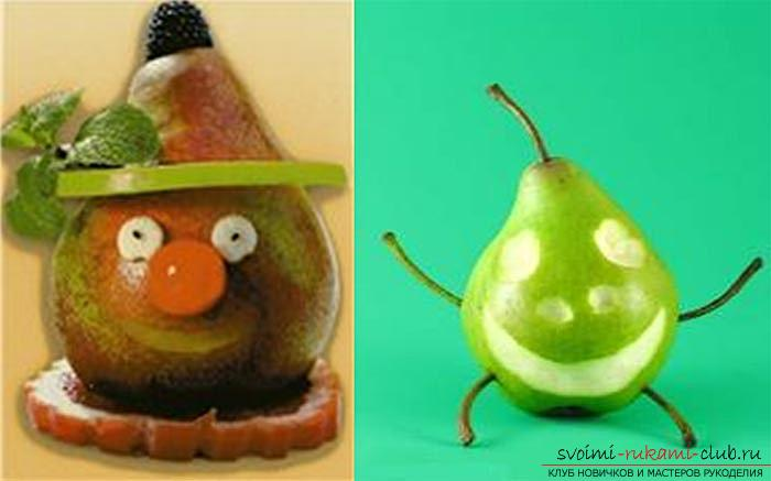 We learn to create children's crafts from vegetables and fruits with our own hands. Photo №5