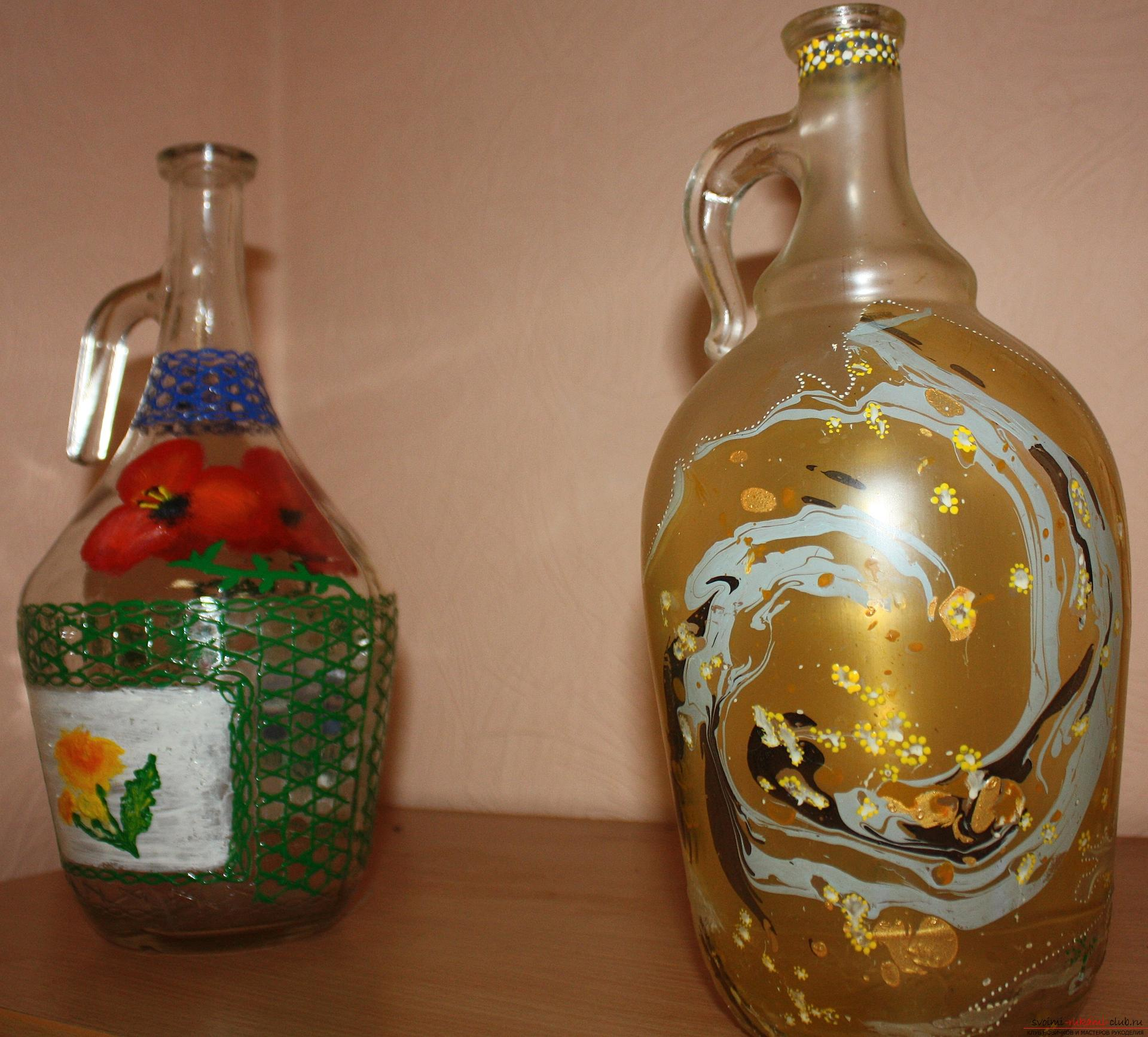 How to design glass bottles and cans by making an unusual gift. Photo №5
