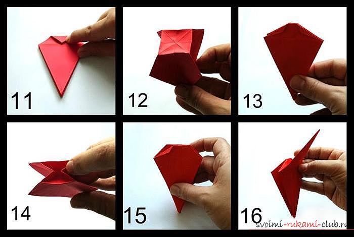 Origami dragon, scheme. Picture №3