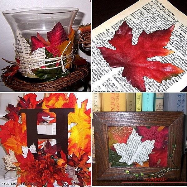 Crafts from maple leaves with their own hands: several lessons. Photo Number 18