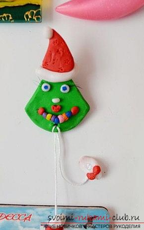 We make the Christmas tree toy on the magnet with our own hands - the technique of sculpting from polymer clay. Photo №5