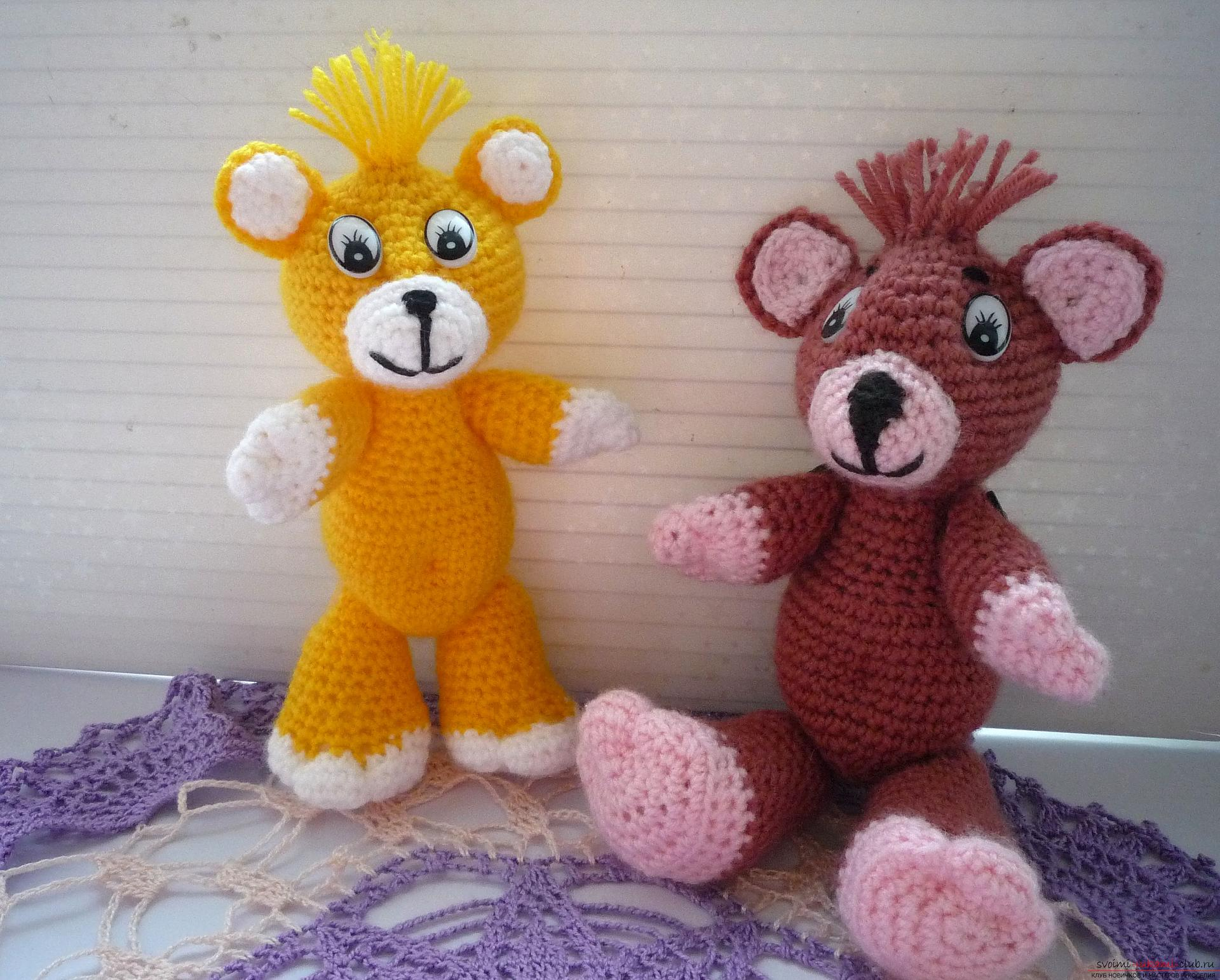 This master class of soft toys will teach crochet teddy bear Amigurumi. Photo №1