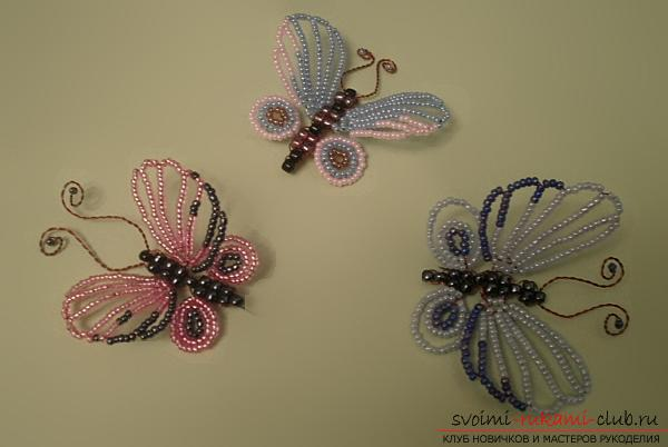 How to weave butterfly beads with their own hands - lessons for beginning masters and children. Photo # 2
