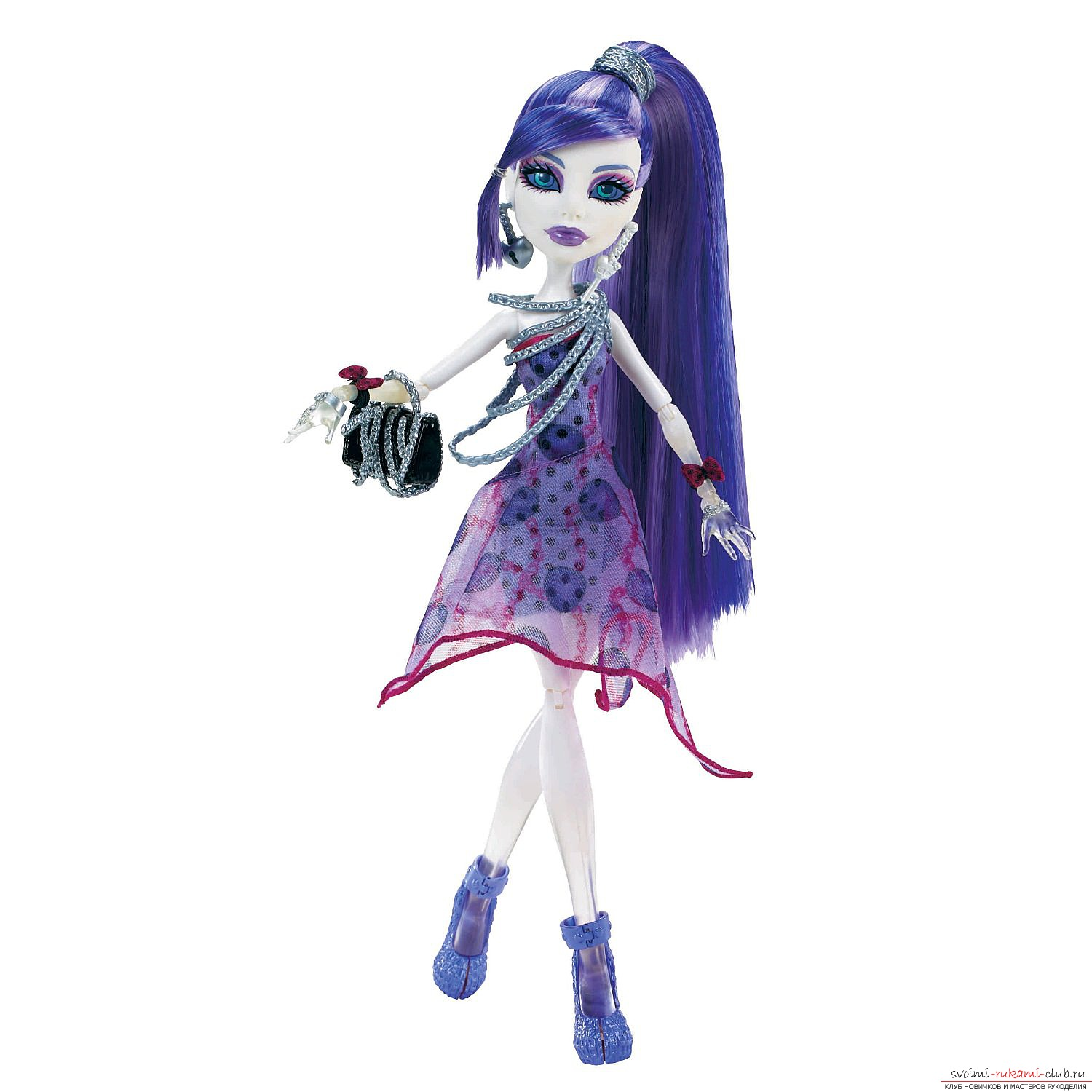 Beautiful clothes for dolls Monster High with their own hands. Photo №5