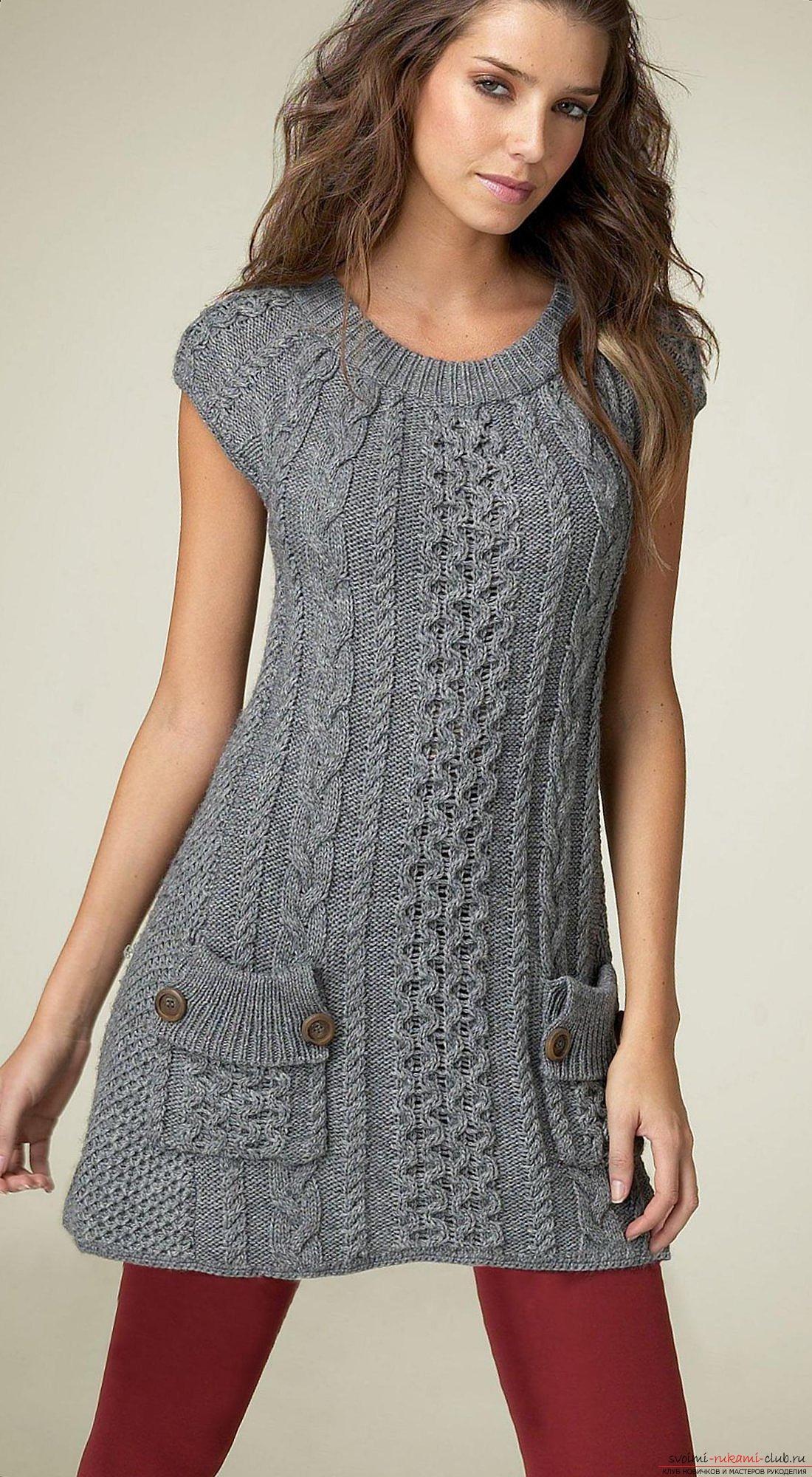 Трикотажни плетени иглички за туники за жени. Снимка №3