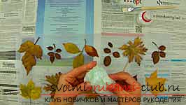 Autumn crafts with your own hands from the leaves. Photo №4