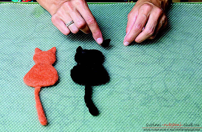 Felting the original picture of felt with their own hands. Photo №1