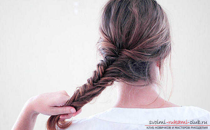 Hairstyles from pigtails for girls for every day. Photo №8