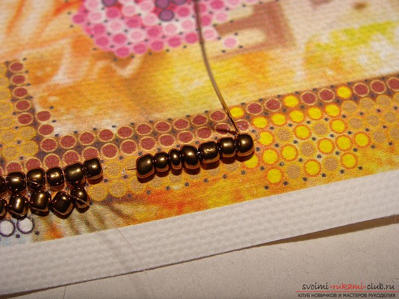 Description of seams used for embroidery with beads. Photo №8