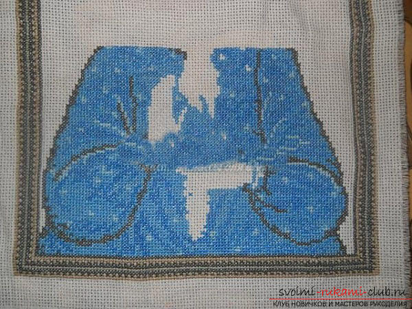 We sew cross-stitch icons of the Savior and Saint Blessed Matron for beginners. Picture №10