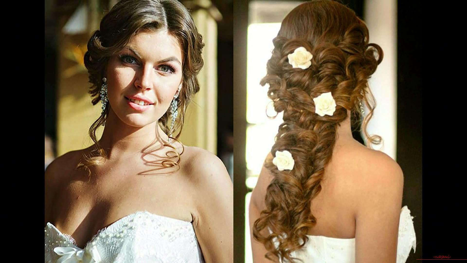Hairstyles for the bride, topical in 2016. Photo №5