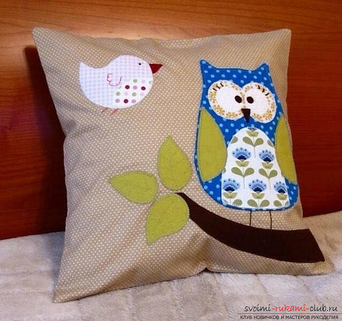 Sewing the pillow-owl with your own hands. Photo №1