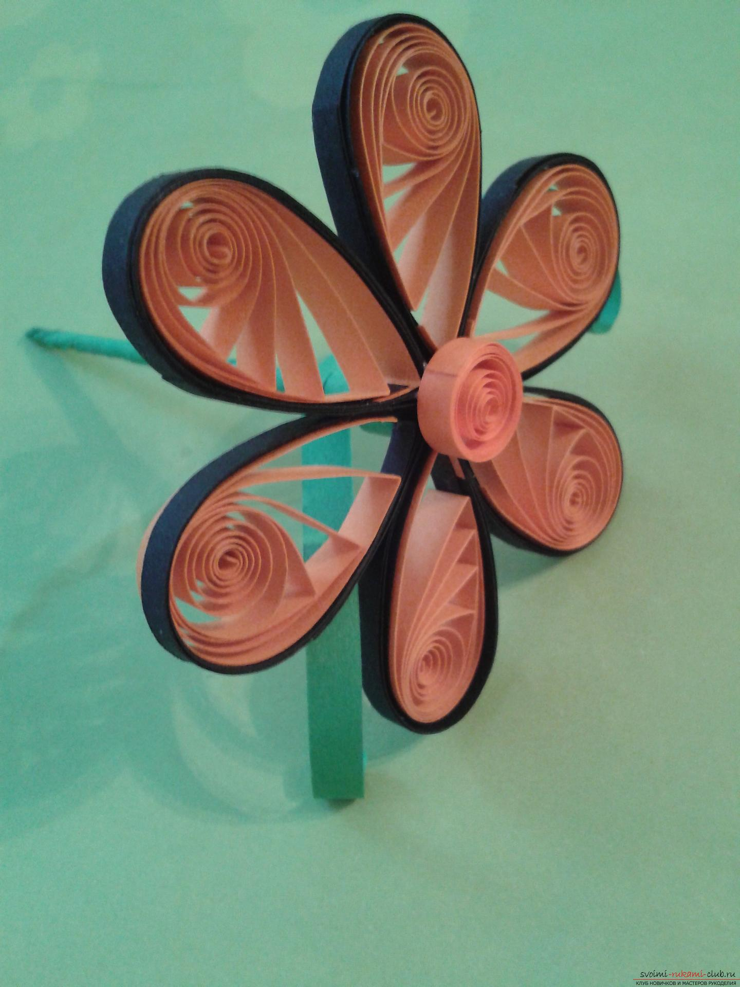 This detailed master-class of quilling colors will tell you how to make your own hands a bouquet in the basket .. Photo №20