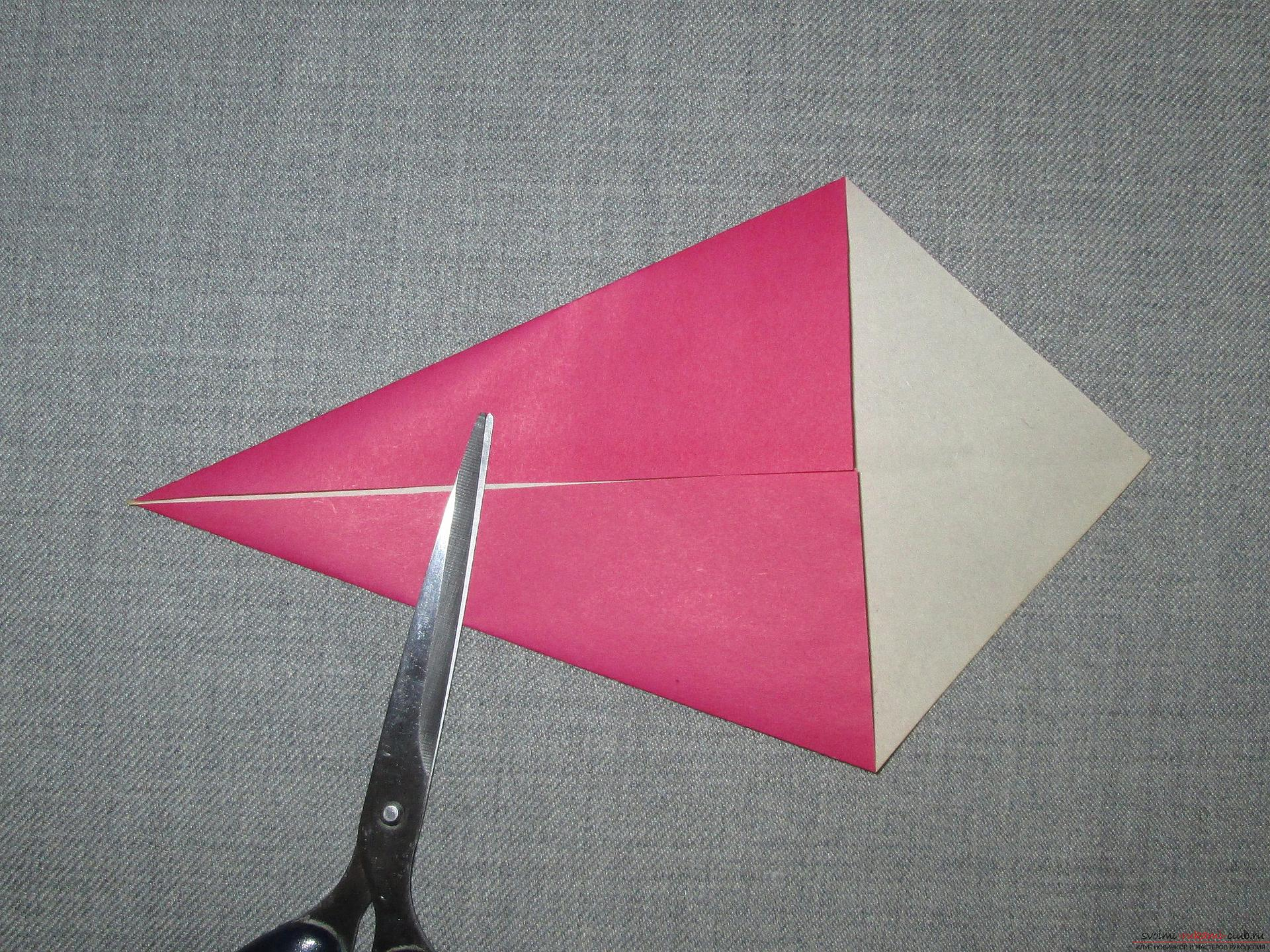 This detailed master class origami for children 8 years will teach how to make an origami snake made of paper .. Photo # 4