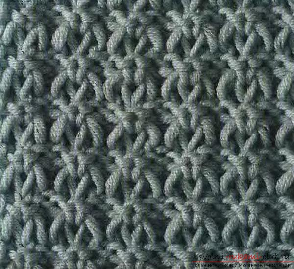 Knitted needles pattern