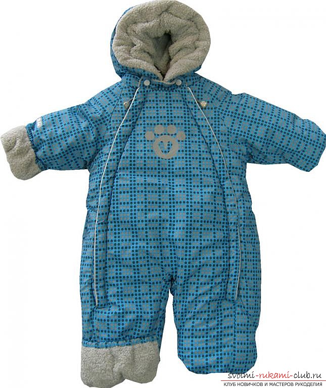 photo description of the pattern of overalls for the newborn. Photo # 2