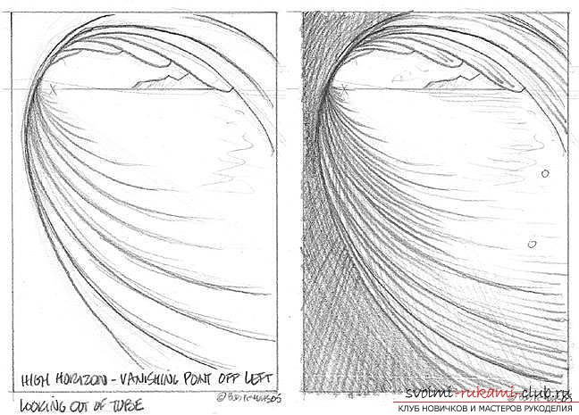 Lesson of drawing a sea wave. Photo Number 11