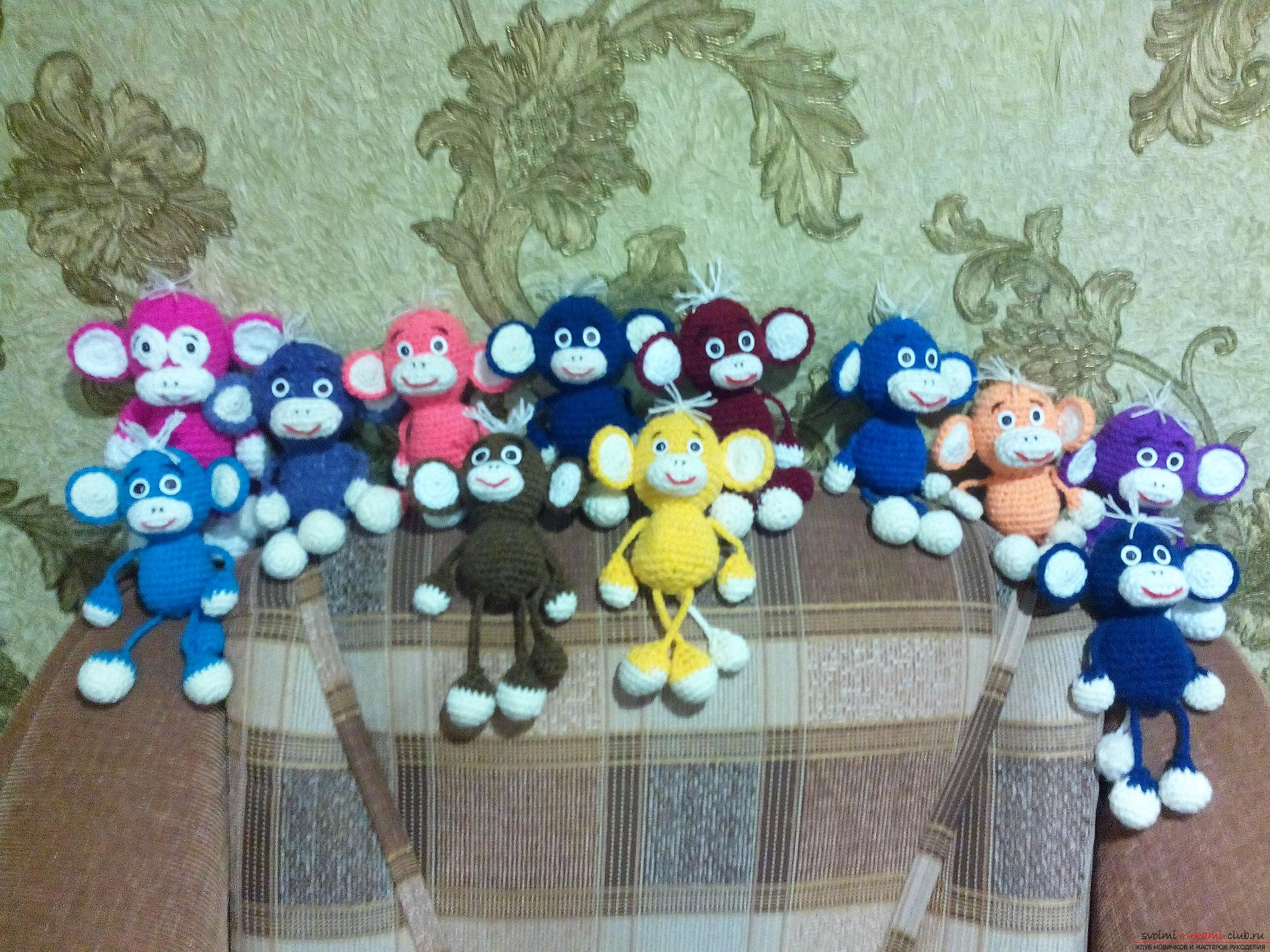 Funny monkeys, crocheted. Photo # 2