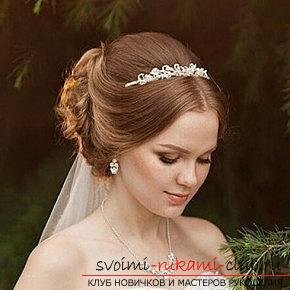A lot of wedding hairstyles for 2016 with their own hands. Photo №4