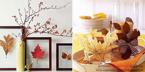 Crafts from maple leaves with their own hands: several lessons. Picture №3
