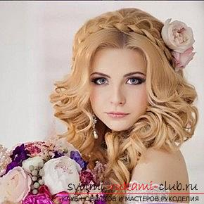 A lot of wedding hairstyles for 2016 with their own hands. Photo №1
