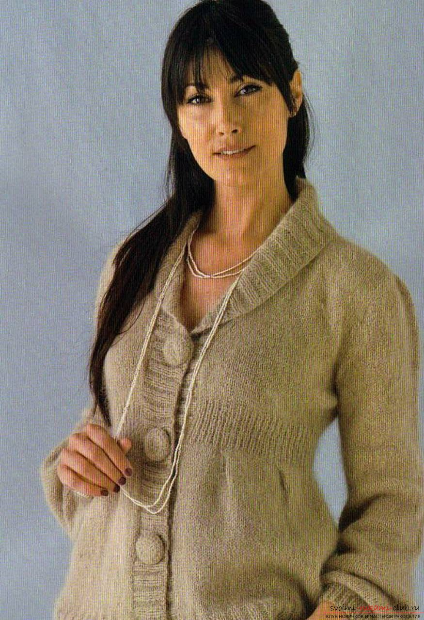 knitted knitting with an original women's jacket. Photo # 2