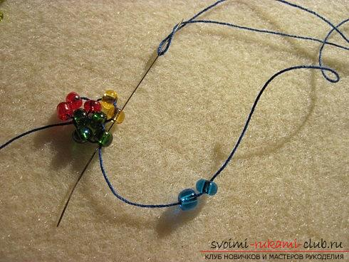 Master classes on weaving beads from beads of various sizes, photo finished products .. Photo # 7