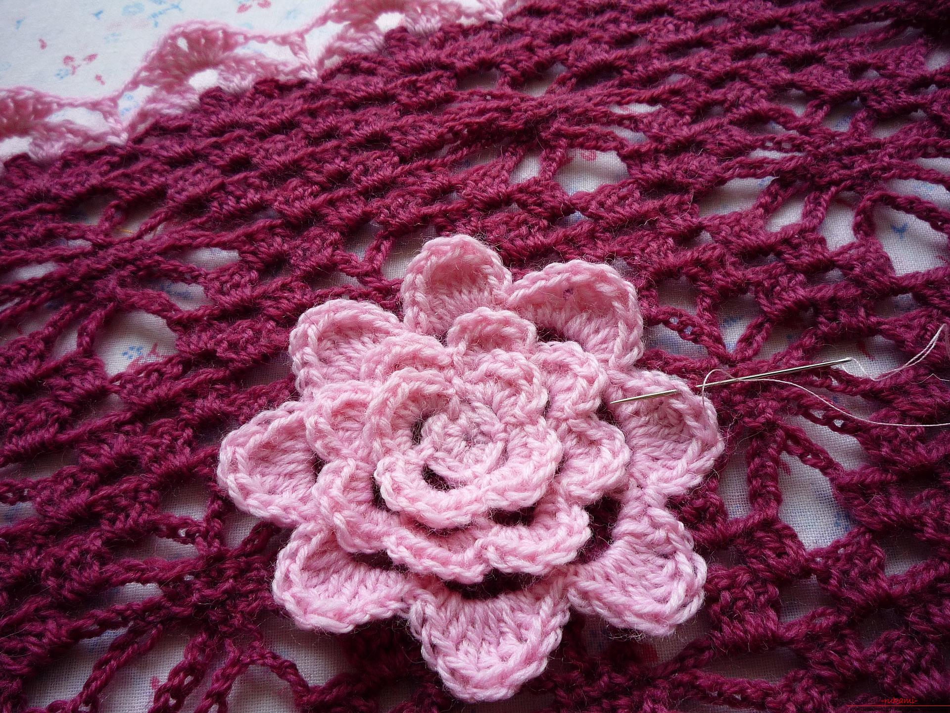 This master class of crocheting contains a crochet color scheme for a plaid .. Photo # 12