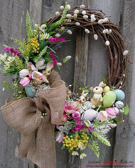 Easter crafts, crafts for the Passoverhands, crafts for Easter for children, how to decorate an Easter egg with their own hands, festive decor, Easter compositions, Easter door-bellies .. Photo # 24