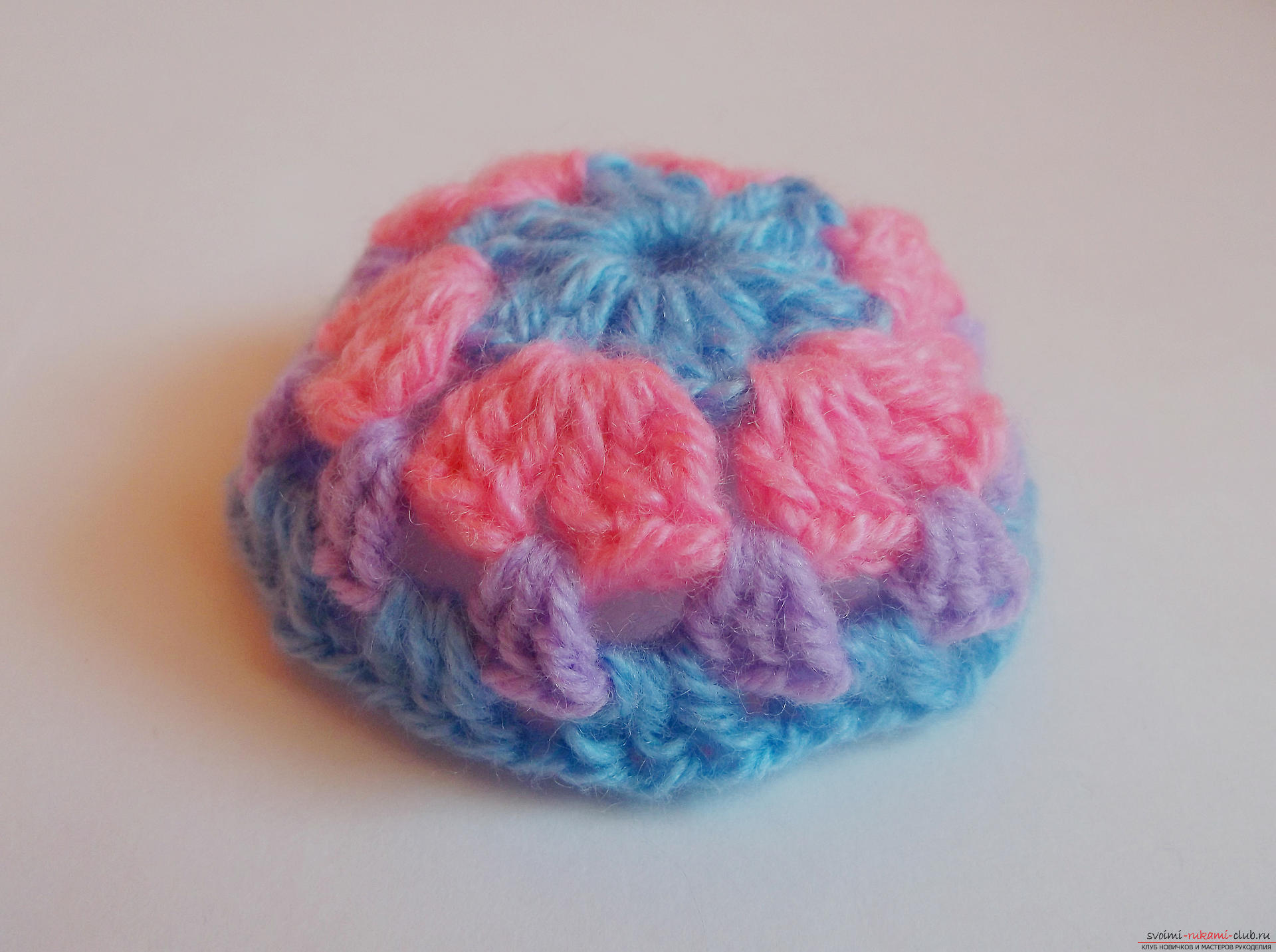 Photo to a lesson on crocheting a Christmas ball. Photo №7