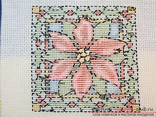 Create the perfect wrong side in the cross-stitched picture. Photo №5
