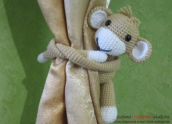 Monkey amigurumi with his hands with a step-by-step description and photo. Picture №10
