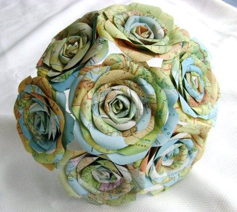 paper flowers from cards