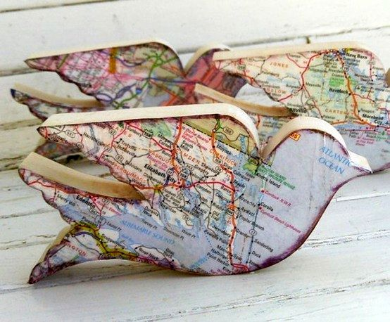 decoupage by geographical maps