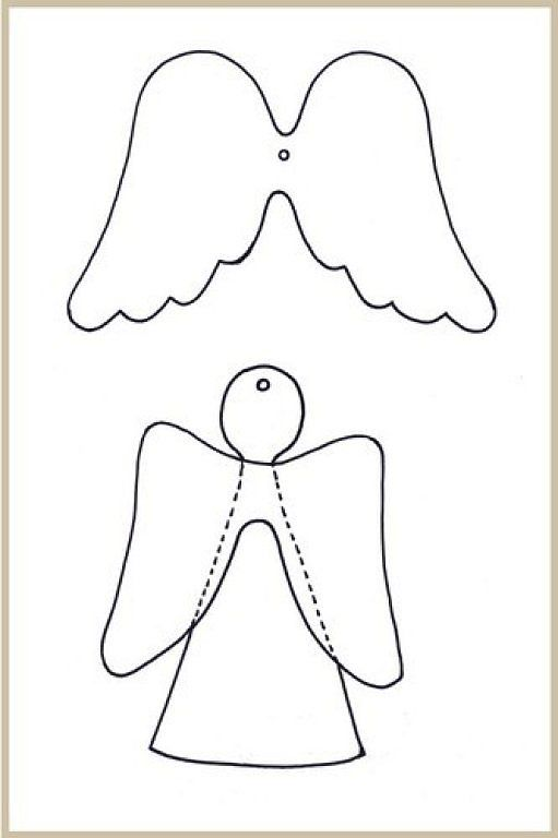 how to make an angel out of paper