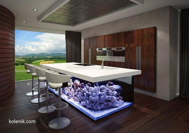 kitchen-island in the style of eco-chic from Kolenik