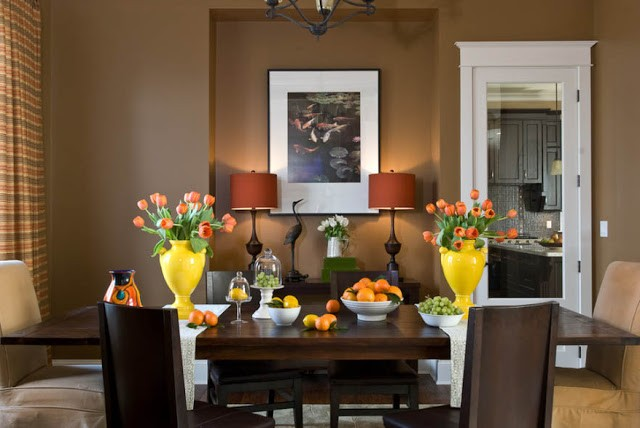 The combination of colors in autumn interiors