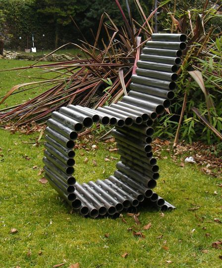 garden chair - furniture from pipes