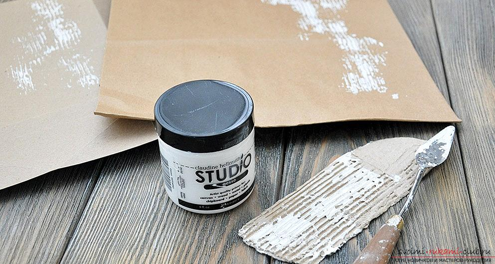 How to make a kraft package for a gift for the new year? Scrapbooking with your own hands. Photo # 2