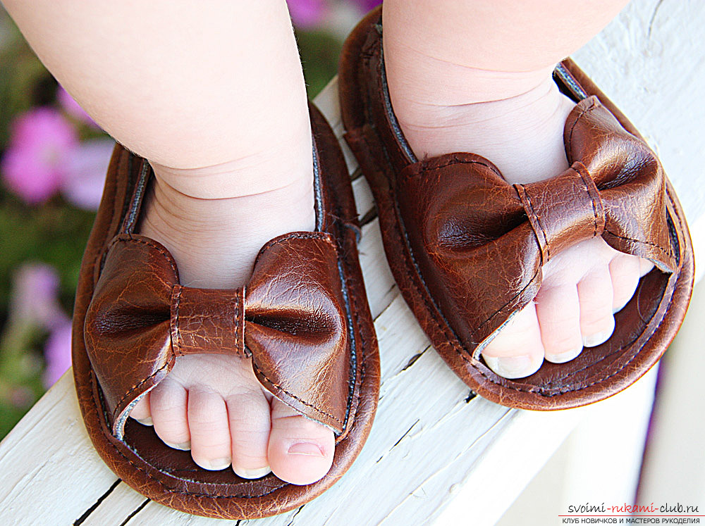 Children's sandals with their own hands - a detailed master class with many photo-illustrations .. Photo # 1