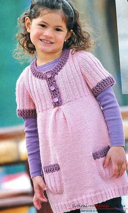 Pink dress with pockets for a girl 3 years old. Photo №8
