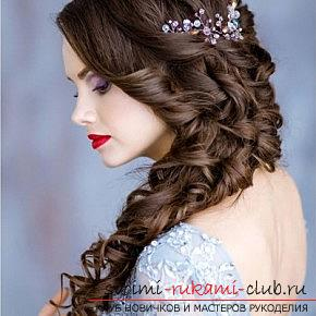 A lot of wedding hairstyles for 2016 with their own hands. Photo №13