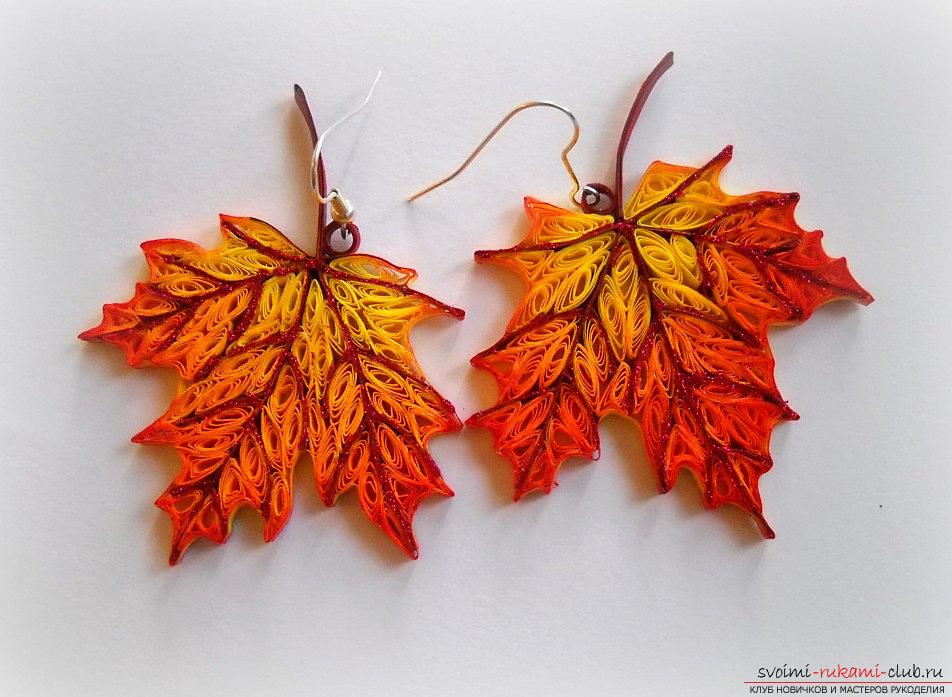 How to make a maple leaf by yourself? Quilling and master classes. Photo №5