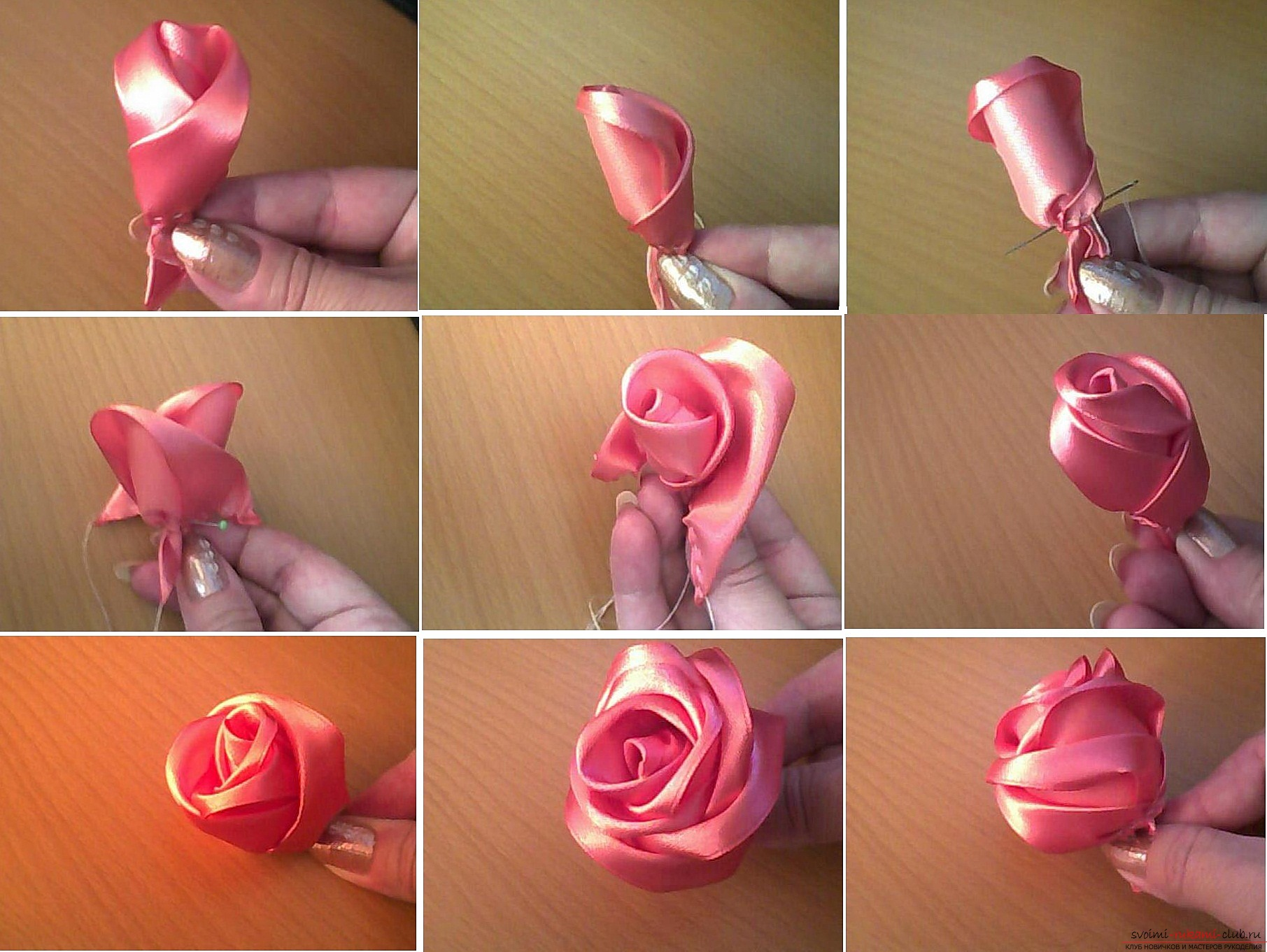 Crafts from bright ribbons, which you can make by yourself. Photos and Tips .. Photo # 2
