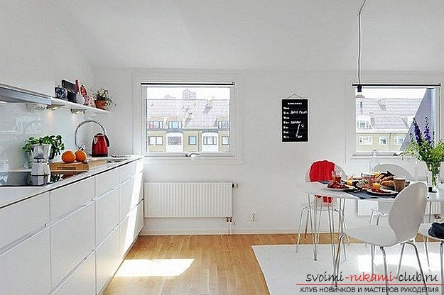 photo examples of interiors of kitchens in the Scandinavian style. Photo №7
