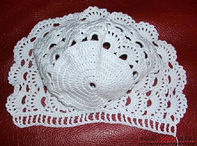 Crochet of beautiful plaids and caps for children up to one year old with diagrams, descriptions and photos .. Photo №11