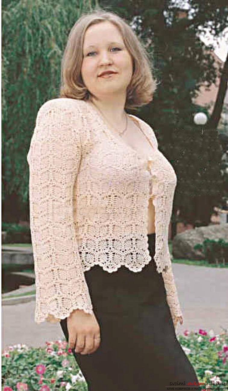 crocheted lace blouse. Photo №1