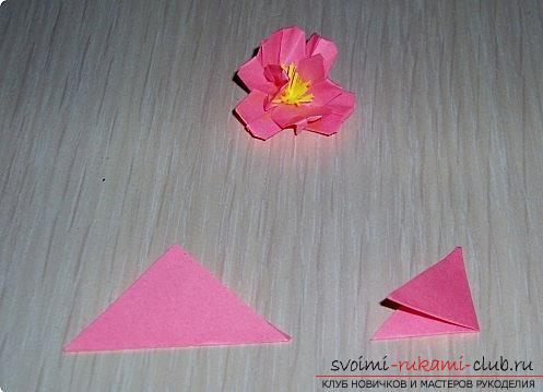 Sakura flowers in origami technique. Picture №3