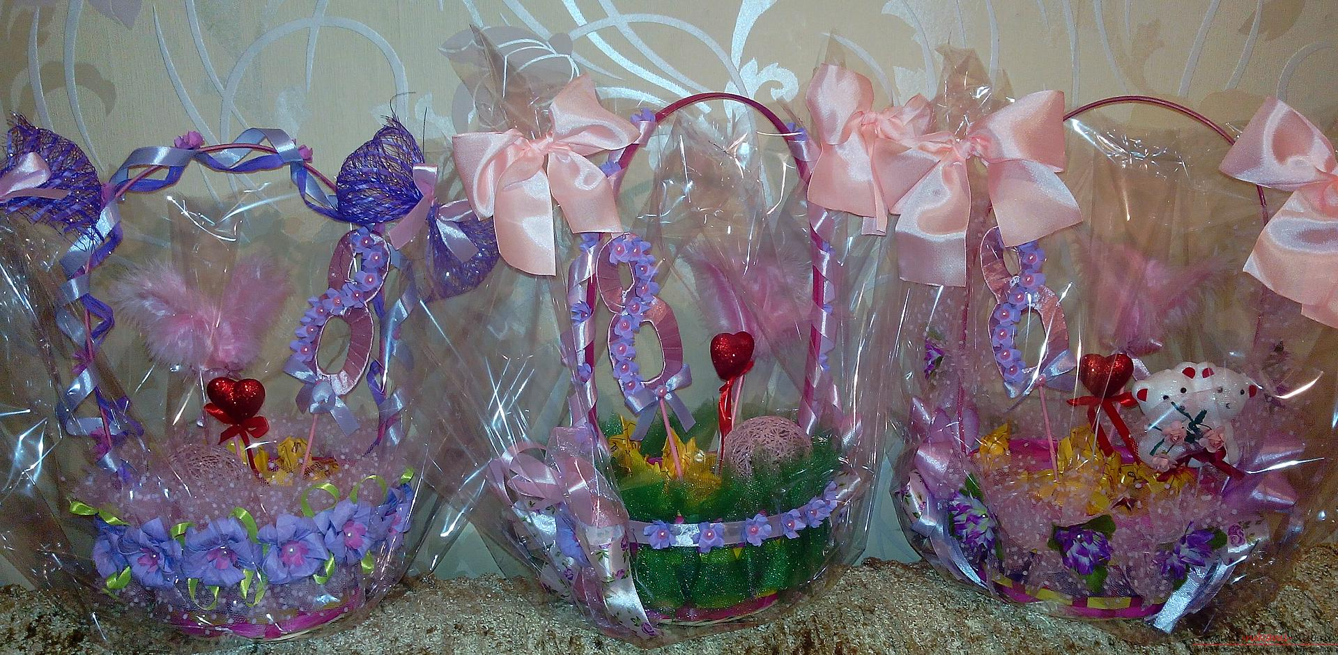Baskets for a gift by March 8. Photo №1