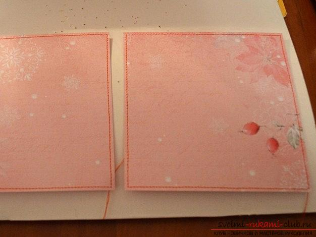Modern New Year's decoration of the card with your own hands - scrapbooking and technology. Picture №3